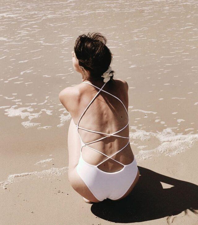 Beautiful @soie.pl in Malawi One-piece 🖤 • • • • • #onepieceswimsuit #whiteswimsuit #bikini #strappyback #openback #beachbody #aestheticlypleasing #postitforaesthetic #beigeaesthetic #minimalstyle #neutrals #tenuedujour #neutralstyle #neutralshades #neutralpalette #neutrals #simpleandpure #simplebeyond #beachvibes #sea #tumblr #beach #summertime #girl #lovesea #beachtime #summermood #picnic #mybeigelife #beigepalette